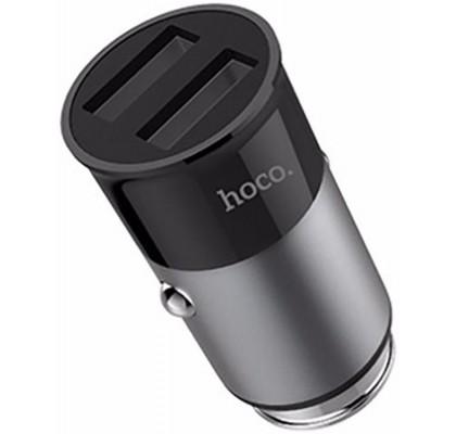 Автомобильное зарядное устройство Hoco Z17A 2USB (3.1A) Gray