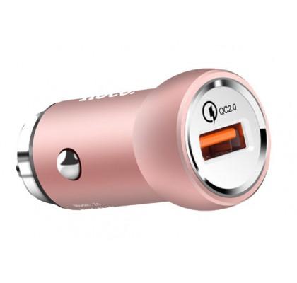 Автомобильное зарядное устройство Hoco Z4 QC 2.0 1USB (2.1A) Rose Gold