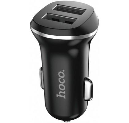 Автомобильное зарядное устройство Hoco Z1 2USB (2.1A) Black