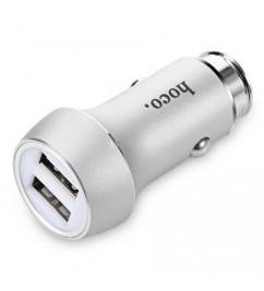 Автомобильное зарядное устройство Hoco Z7 Kingkong 2USB (2.4A) Silver