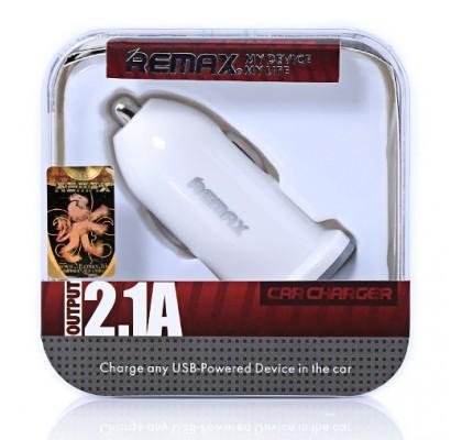 Автомобильное зарядное устройство Remax (RCC101) 1USB / 2.1A White