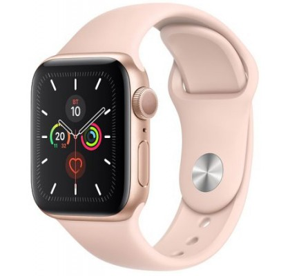 Смарт-часы Apple Watch Series 5 GPS, 40mm Gold Aluminium Case with Pink sand Sport Band (MWV72)
