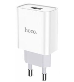 Сетевой блок питания 1USB Hoco C81A White (2.1A)
