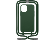 Чехол-накладка для Apple iPhone 12 / 12 Pro Crossbody Case Dark Green