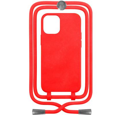 Чехол-накладка для Apple iPhone 12 / 12 Pro Crossbody Case Red