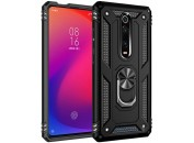 Чехол-накладка для Xiaomi Mi9T / K20 Honor Hard Defence Ring Series Black