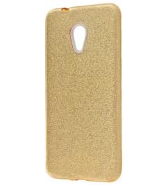 Чехол-накладка для Meizu силикон Glitter Air Gold