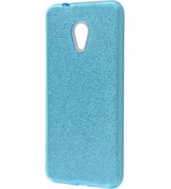 Чехол-накладка для Meizu силикон Glitter Air Blue