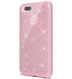 Чехол-накладка для Xiaomi силикон Glitter Air Pink