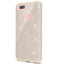 Чехол-накладка для Xiaomi силикон Glitter Air Gold