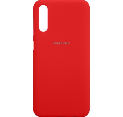 Чехол-накладка для Samsung A50 (А505) силикон Red