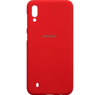 Чехол-накладка для Samsung M10 (M105) силикон Red