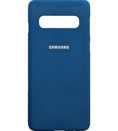 Чехол-накладка для Samsung S10 Plus (G975) силикон Blue