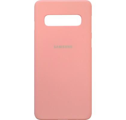 Чехол-накладка для Samsung S10 (G973) силикон Pink