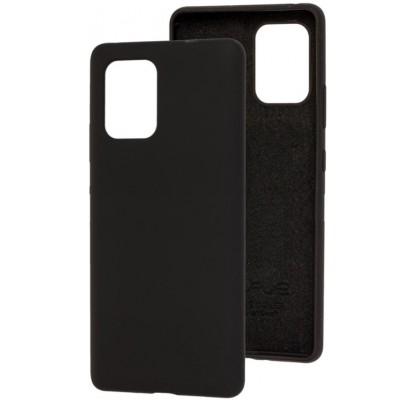 Чехол-накладка для Samsung S10 Lite силикон Black