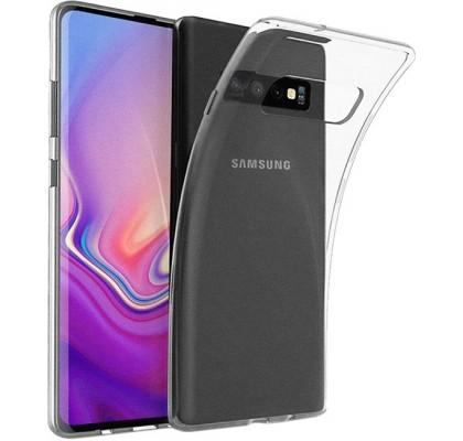 Чехол-накладка для Samsung S10 Plus (G973) силикон Clear