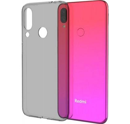 Чехол-накладка для Redmi Note 7 силикон Clear (темный)