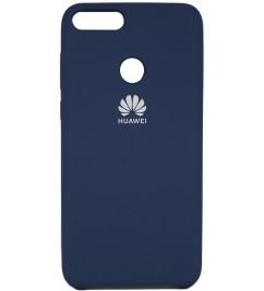 Чехол-накладка для Huawei Original Soft Dark Blue