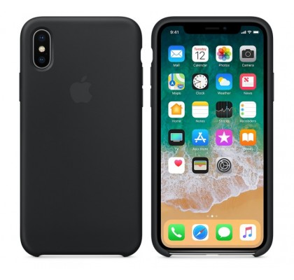 Чехол-накладка для Apple iPhone X Original Soft Black