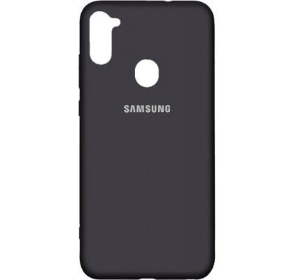 Чехол-накладка для Samsung A11 Original Soft Black