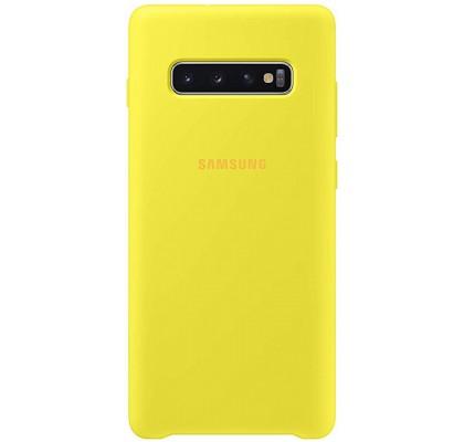 Чехол-накладка для Samsung S10 (G973) Original Soft Yellow