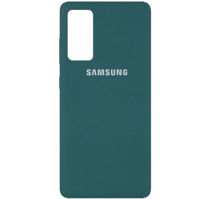 Чехол-накладка для Samsung S20 FE Original Soft Dark Green