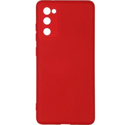 Чехол-накладка для Samsung S20 FE силикон Red