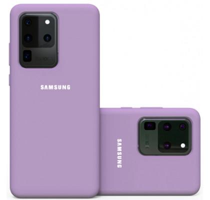 Чехол-накладка для Samsung S20 Ultra (G9880) Original Soft Lilac
