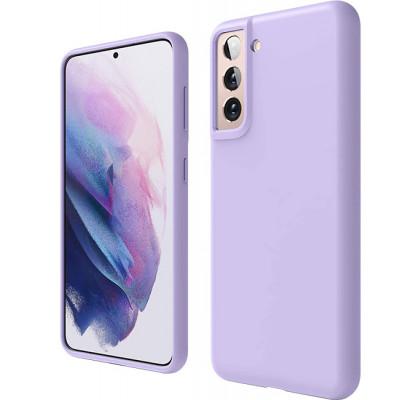 Чехол-накладка для Samsung S21 Original Soft Lilac
