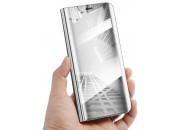 Чехол-книга для Xiaomi Redmi Note 7 с зеркальной поверхностью Silver