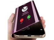 Чехол-книга для Xiaomi Redmi Note 7 с зеркальной поверхностью Purple