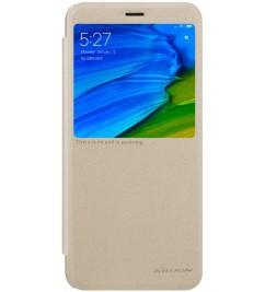Чехол-книга Nillkin Sparkle с окошком для Xiaomi Gold
