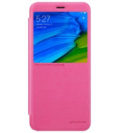 Чехол-книга Nillkin Sparkle с окошком для Xiaomi Pink