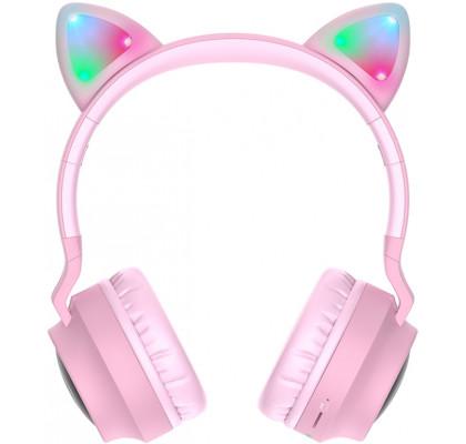 Наушники HOCO W27 Cat Еar Pink