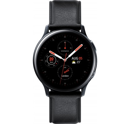 Смарт-часы Samsung Galaxy Watch Active 2 (SM-R830) кожа Stainless steel Black 40mm