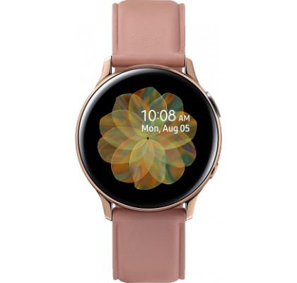 Смарт-часы Samsung Galaxy Watch Active 2 (SM-R830) кожа Stainless steel Gold 40mm