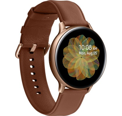 Смарт-часы Samsung Galaxy Watch Active 2 (SM-R820) кожа Stainless steel Gold 44mm