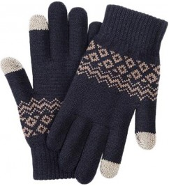 Перчатки Xiaomi Touch Screen Gloves Finger Winter Blue