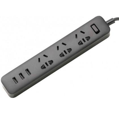 Сетевой фильтр Xiaomi Mi Power Strip 3 розетки + 3 USB (CN) Black (XMCXB01QM, NRB4002CN)