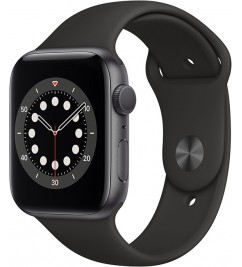 Смарт-часы Apple Watch Series 6 GPS 44mm Space Grey Alum Case with Black Sport Band (M00H3UL/A)