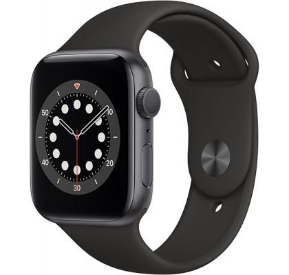 Смарт-часы Apple Watch Series 6 GPS 44mm Space Grey Alum Case with Black Sport Band (M00H3UL/A)
