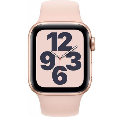 Смарт-часы Apple Watch SE GPS, 40mm Gold Aluminium Case with Pink Sand Sport Band (MYDN2)