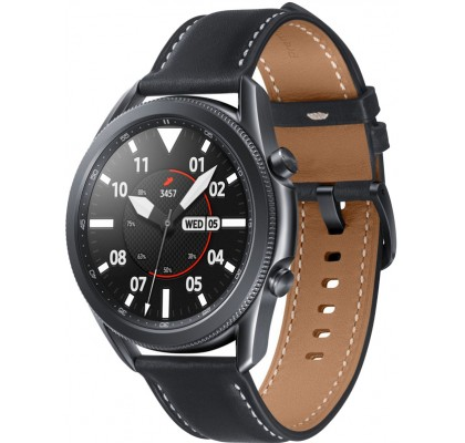 Смарт-часы Samsung Galaxy Watch 3 (SM-R840) кожа Stainless steel Black 45mm