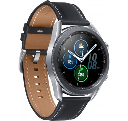 Смарт-часы Samsung Galaxy Watch 3 (SM-R840) кожа Stainless steel Silver 45mm