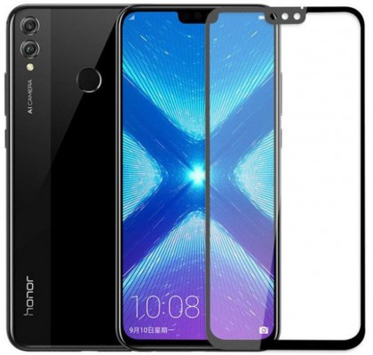Защитное 2D стекло для Huawei Honor 8X (с рамкой Black)