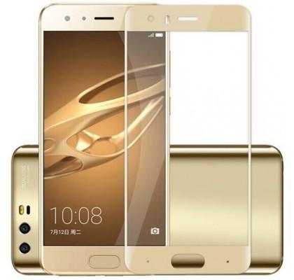 Защитное 2D стекло для Huawei Honor 9 (с рамкой Gold)