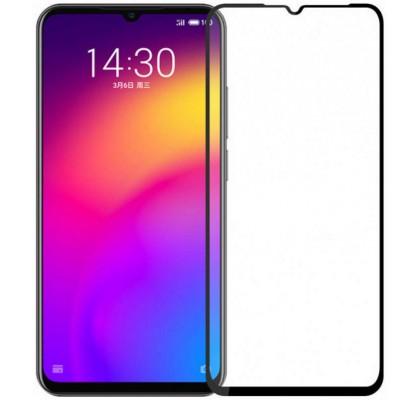 Защитное 2D стекло для Meizu Note 9 (с рамкой Black)