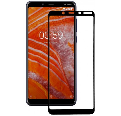 Защитное 2D стекло для Nokia 3.1 Plus (с рамкой Black)