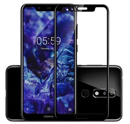 Защитное 2D стекло для Nokia 5.1 Plus (с рамкой Black)