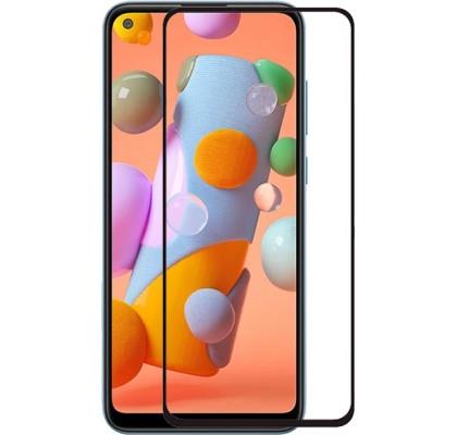 Защитное 2D стекло для Samsung A11 (A115) (с рамкой Black)